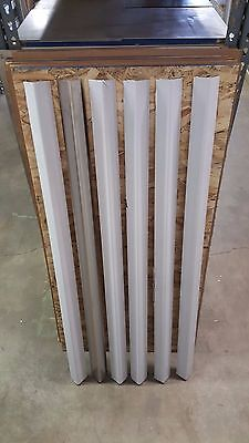 "Stainless Steel Corner Guards 1 1/2"" x 1 1/2"" x 48"" (Set of 6)"