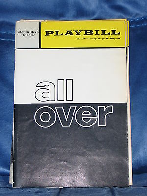 """Playbill For Edward Albee's """"all Over"""" Colleen Dewhurst 1971 Martin Beck Theatre"""