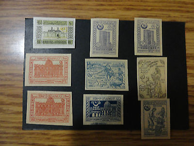 Azerbaijan - Stamps 9 Stamps Mint Hinged - Scott    -  8 20 21 22 24 -  B1 B2