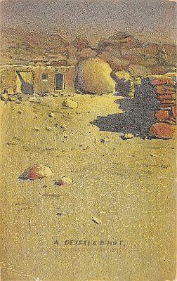 NEW MEXICO - A Deserted Hut;  Postmarked ALBUQUERQUE, 1908; Printed POSTCARD