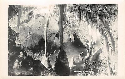 NEW MEXICO - The Chapel or Dome, Carlsbad Cavern c.1925 Leck Real Photo POSTCARD