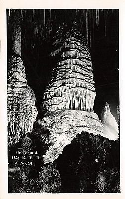 NEW MEXICO - The Temple (Carlsbad Cavern); c.1925 Leck Real Photo POSTCARD