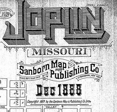 Joplin, Missouri~Sanborn Map©~37 sheets made in 1888 and 1900 on a CD