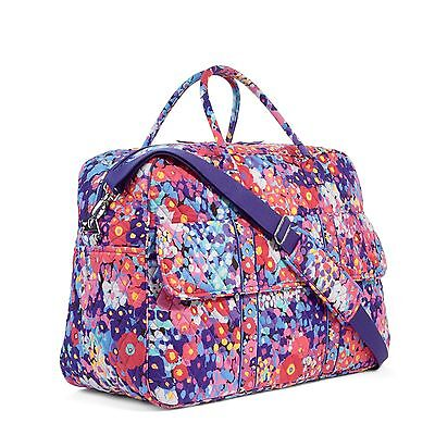 NWT Vera Bradley GRAND TRAVELER Travel/Gym Bag IMPRESSIONISTA + Bonus Cosmetic!