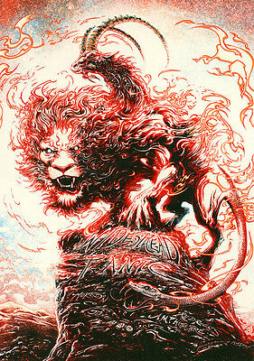 Miles Tsang Widespread Panic Red Rocks Poster - Artist Edition #/70