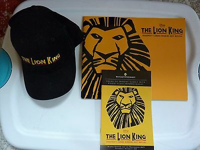 Lion King Broadway show Lot of Program, Playbill and Hat from Anchorage Alaska S