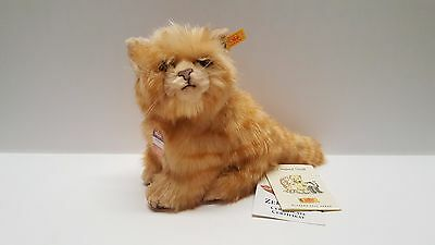 Steiff Germany Whiskas orange Tabby Cat standing 074929 w/ tags ids 6""