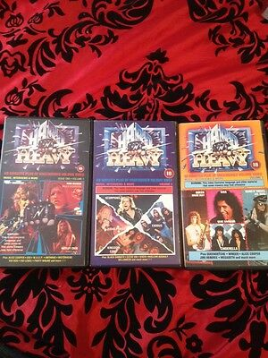 Hard 'n' Heavy Vhs Video Cassettes Vol 1, 2 & 3