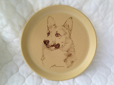 Pembroke Welsh Corgi Dog Plate by Jane Faber comes from England