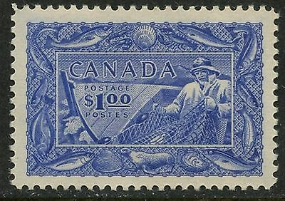 CANADA Sc#302 1951 $1 Fishing Industry Complete VF OG Mint NH