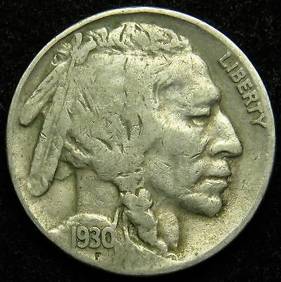 1930 S Buffalo Indian Head Nickel VG Very Good (B03)
