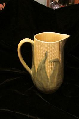 Vintage Shawnee Corn King Tall Pitcher-#71-Soft Yellow/green Husks-Nice!