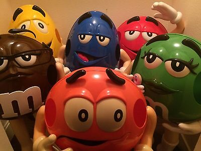 M&M's Rare w/ Blue M&M Candy Store Advertising Display Lot of 6 Lifesize figures