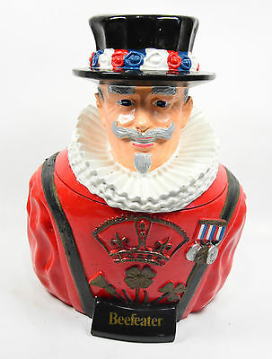 Beefeater Gin Ice Bucket Rubber Composition Bust of Beefeater