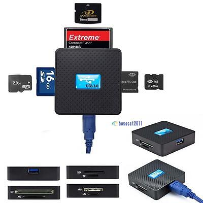 All in 1 USB 3.0 Multi Memory Card Reader High Speed Micro SD TF CF XD M2 MS SB