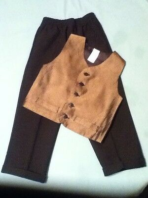 Boys-Size 4T-Lot of 2- brown vest&black suit pants-formal/dress