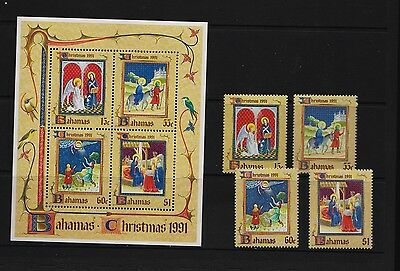 Bahamas - 1991 Christmas set, Mint, NH, cat. $ 20.75