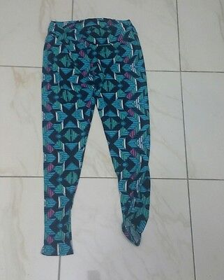 Girls' Formal Occasion Lularoe Chevron Leggings Turquoise Pink Blue