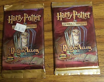 Harry Potter TCG Diagon Alley Booster Packs FACTORY SEALED LOT OF 2