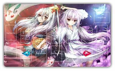 E747# Drifting Ghost Winter Blossom Ghost Ogre Snow Rabbit TCG Playmat Layout