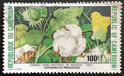 118.cameroon 1987(100f) used stamp flowers