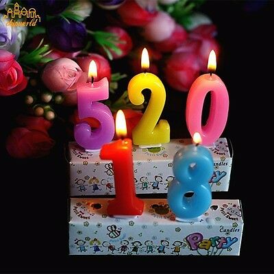 10Pc Cartoon Mini Birthday Candles Decoration Kids Party Letters Cake Candles