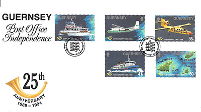 GUERNSEY 1994 Post Office Anniversary set FDC