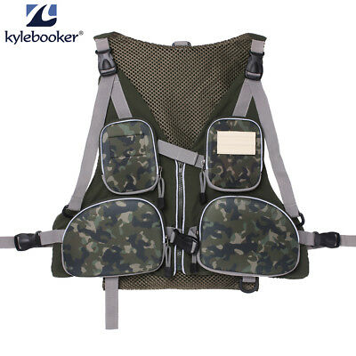 Fishing Hunting Multi-pocketed Vest Pack Outdoor Handy Adjustable Size Jackets