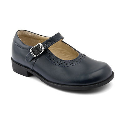 Start-rite Louisa Navy Blue Leather Girls Buckle Classic Style School Shoes
