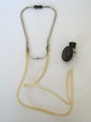 Vintage Medical Binaural Rubber & Brass Stethoscope