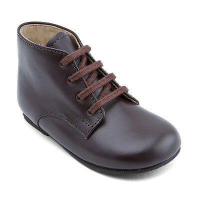 Start-rite Adam Brown Leather Classic Lace-up Ankle Boots