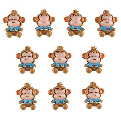 10pcs Cute Boy Monkey Flatback Resin Scrapbooking HairBows Crafts DIY Making