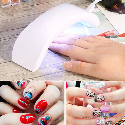 New Portable 12W LED CCFL Nail USB Dryer Curing Lamp Machine UV Gel Tips Polish