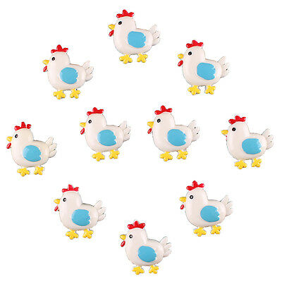 Lots 10pcs Little Cock Flatback Resin Scrapbooking Hair Bow Clip DIY Making