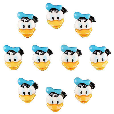 Bulk 10 pcs Resin Donald Duck Flatback Scrapbooking Girl Hair Bow Clip DIY Craft