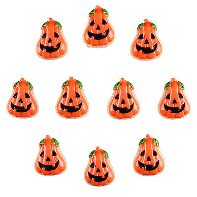10pcs Resin Halloween Pumpkin Flatback Hair Bow Center DIY Crafts Deco Prop