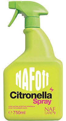 Naf Off Citronella Spray 750 Ml Mosquito Fly Insect Repellent For Horses & Ponie