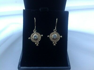 Vintage Diamond Drop 9Ct Gold Earrings