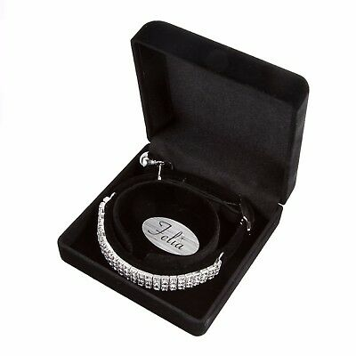 Exclusive Velvet Jewellery Cat Collar By Felia™ Set With Crystals From Swarovski