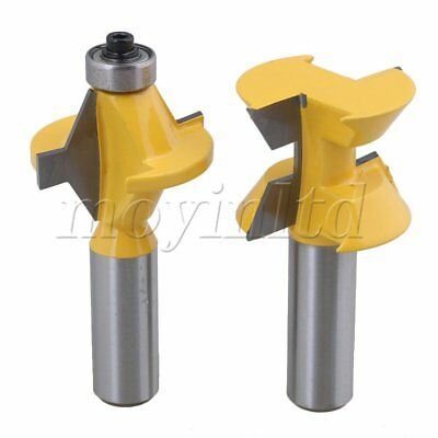 Carbide 120 Degree 1/2 Inch Shank Matched Tongue Groove Router Bit Set