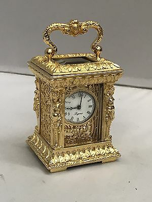 A Small Gold Gilt Brass Carriage Clock. Open To Offers?