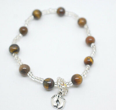 Pregnancy Mum To Be Gift Baby Fetal Kick Counter Bracelet Gemstone Version