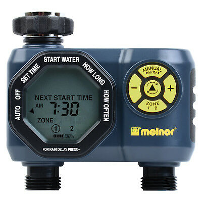 Melnor Digital 2 Zone Programmable Water Timer and Controller for Garden 33100