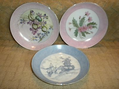 3 Unique Hand Painted Floral Pictures on Crown Victoria Lovelace China Bowls #2