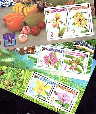 Singapore 95 1995 Orchids 3 x MNH different mini sheets WS4756