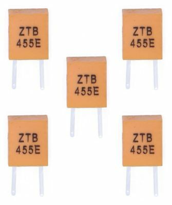5 x 455kHz Ceramic Resonator 2 pin 455E Remote Control Crystal Oscillator THT