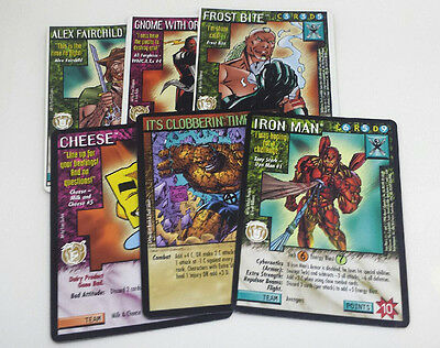 Windstorms ccg CHASE LOT x6 - Iron Man , Cheese, Clobbering Time , Gnome + MORE