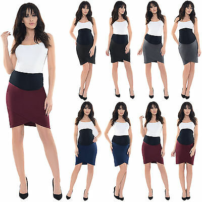 Purpless Maternity Pregnancy Clothing Workwear Formal Tulip Skirt Skirts 1512