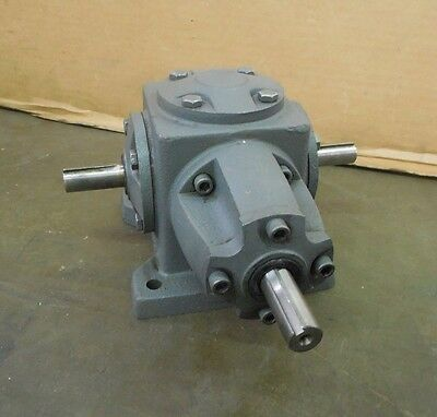 No Name Heavy Duty 3-Way Right Angle Speed Reducer Gearbox 1:1 Ratio