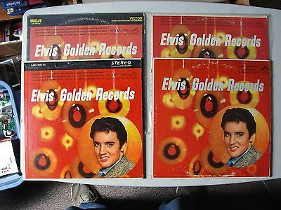 4 Elvis Golden Records * All Different Pressings *